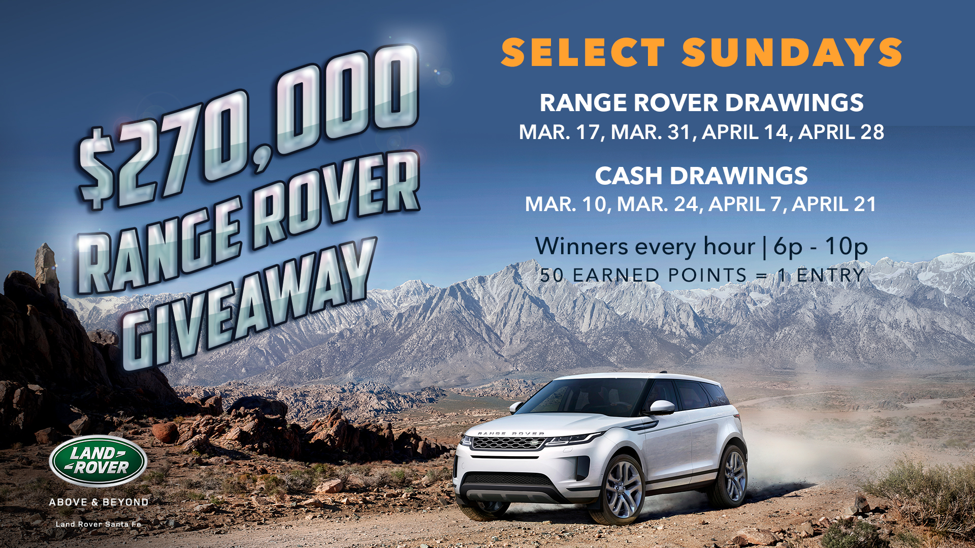 range rover facebook giveaway 270 000 range rover giveaway tesuque casino 1471