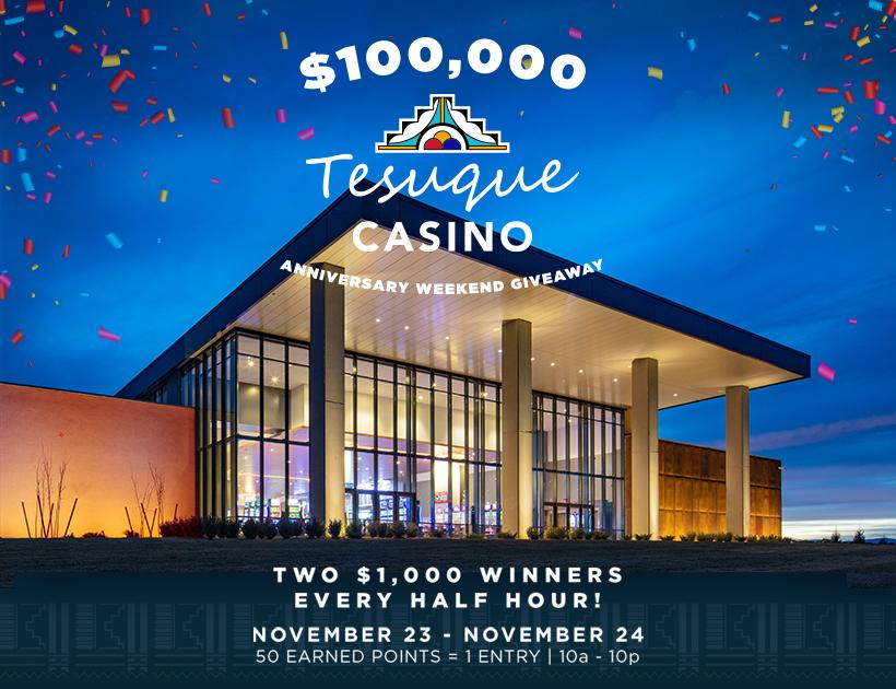 $50,000 Tesuque Casino Anniversary_820X620